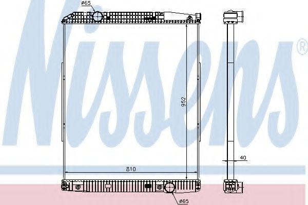 Радиатор охлаждения двигателя NISSENS 626490