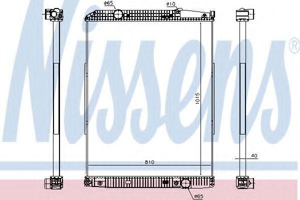 Радиатор охлаждения NISSENS 627910