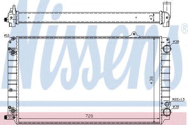 Радиатор охлаждения NISSENS 60239