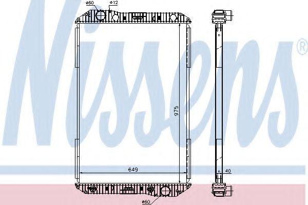 Радиатор охлаждения NISSENS 625710