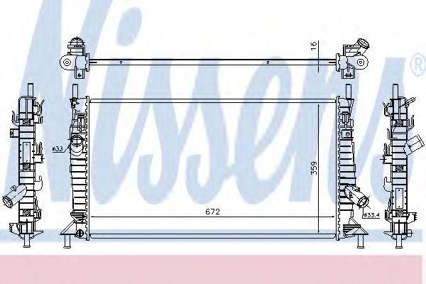 Радиатор охлаждения NISSENS 69256