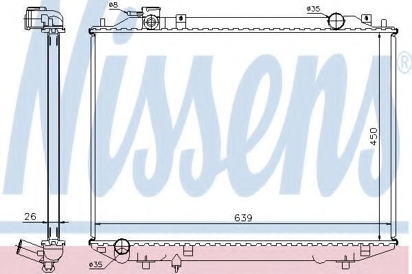 Радиатор охлаждения NISSENS 62246A