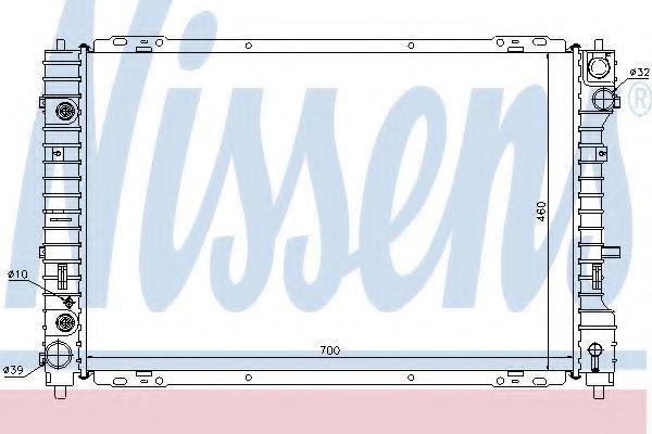 Радиатор охлаждения NISSENS 62003