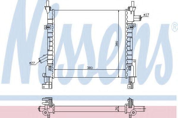 Радиатор охлаждения NISSENS 62005