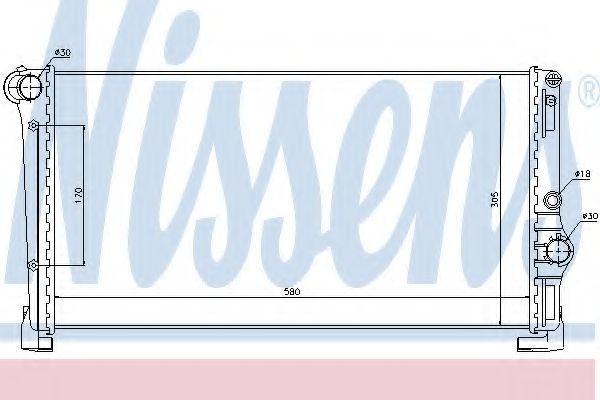 Радиатор охлаждения NISSENS 68806