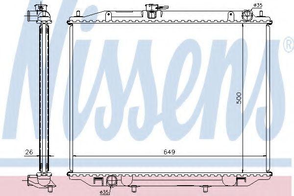 Радиатор охлаждения NISSENS 68708A