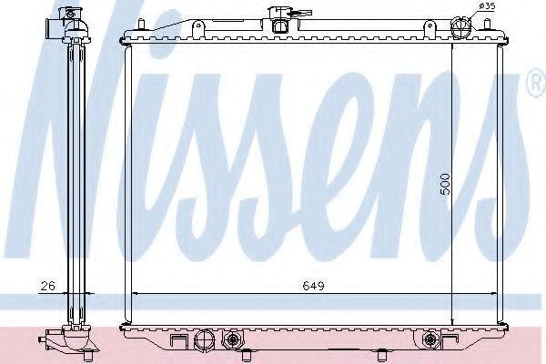 Радиатор охлаждения NISSENS 68709A