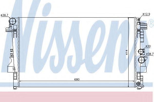 Радиатор охлаждения NISSENS 62572