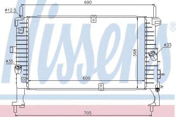 Радиатор охлаждения NISSENS 63092