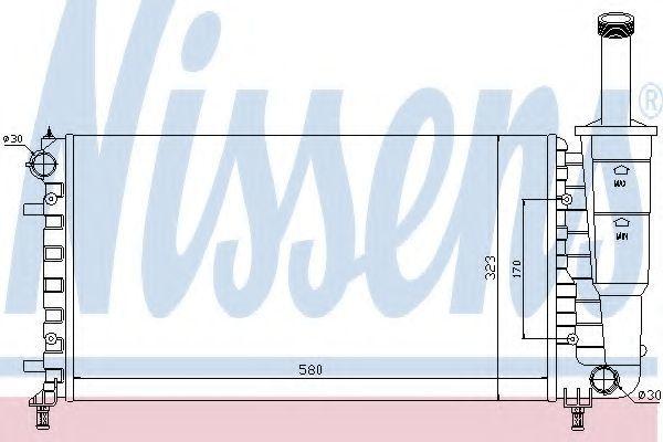 Радиатор охлаждения NISSENS 61888