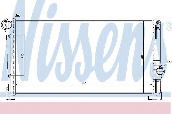 Радиатор охлаждения NISSENS 61896