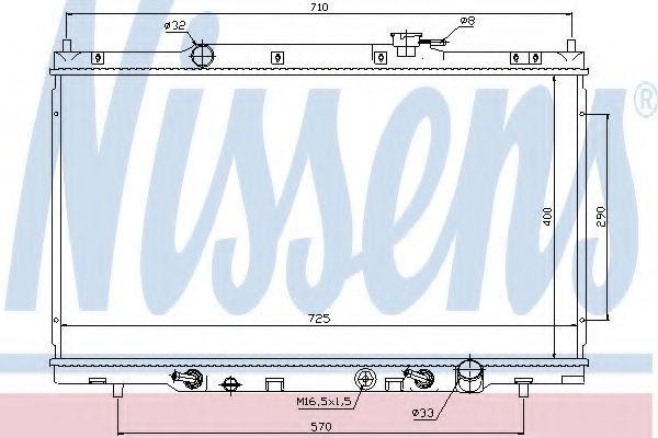 Радиатор охлаждения двигателя NISSENS 68106