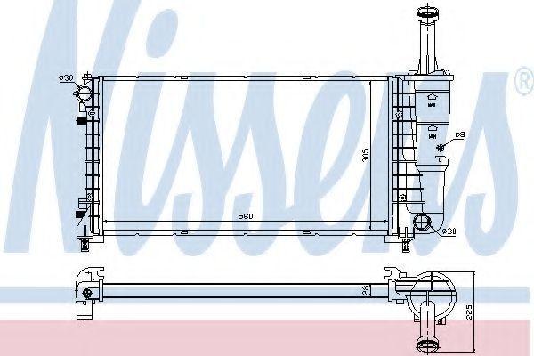 Радиатор охлаждения NISSENS 61898