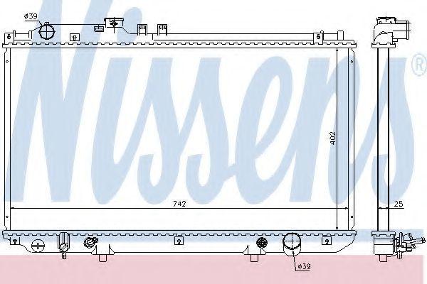 Радиатор охлаждения NISSENS 64658