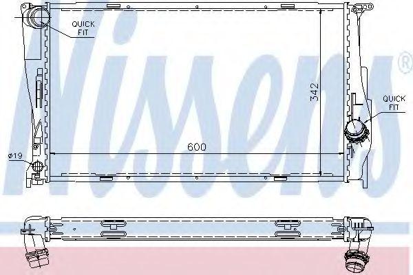 Радиатор охлаждения NISSENS 60785A