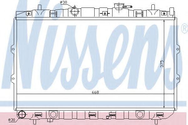 Радиатор охлаждения NISSENS 66648
