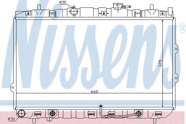 Радиатор охлаждения NISSENS 66649
