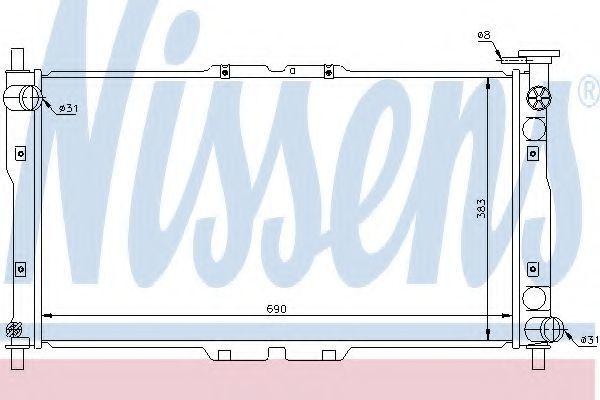 Радиатор охлаждения NISSENS 66656
