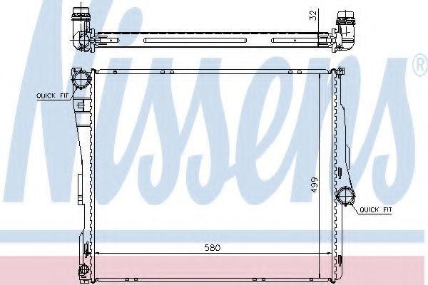 Радиатор охлаждения двигателя NISSENS 60803A