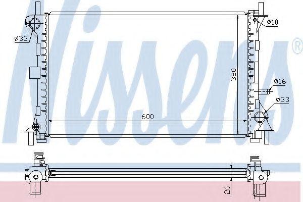 Радиатор охлаждения NISSENS 62052