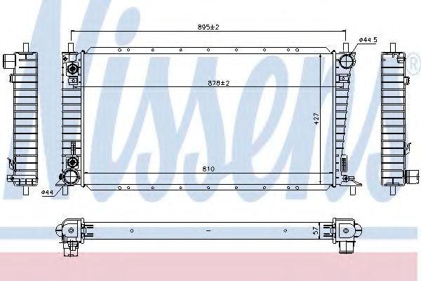Радиатор, охлаждение двигателя NISSENS 69207