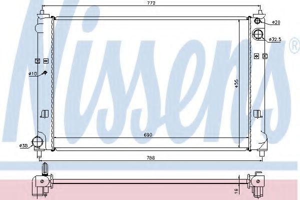 Радиатор охлаждения NISSENS 62468
