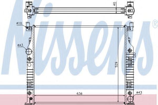 Радиатор охлаждения двигателя NISSENS 62576A