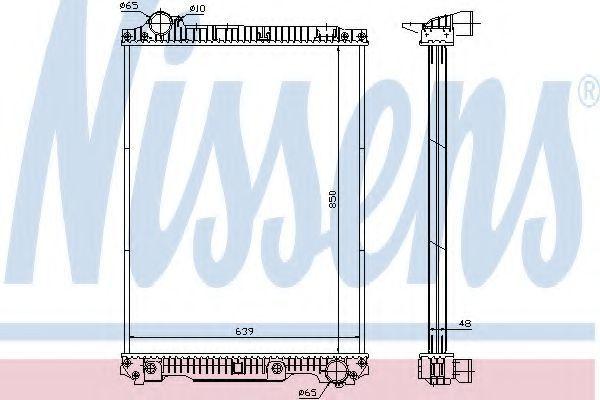 Радиатор охлаждения NISSENS 626570