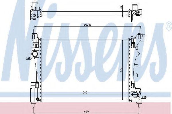 Радиатор охлаждения NISSENS 61917