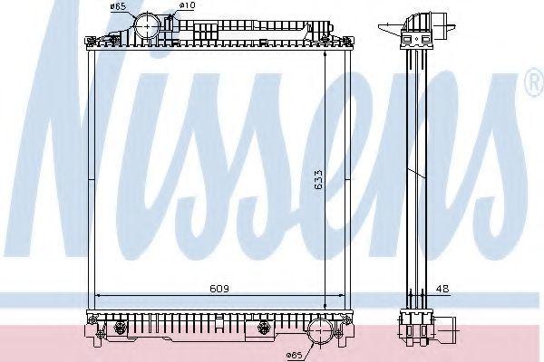 Радиатор охлаждения NISSENS 626470