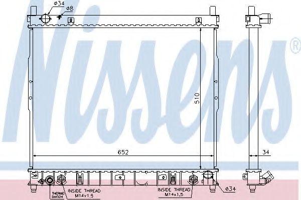 Радиатор охлаждения NISSENS 64318