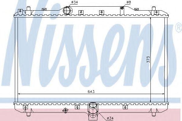 Радиатор охлаждения NISSENS 64198
