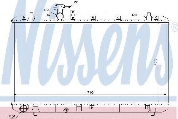 Радиатор охлаждения NISSENS 64197