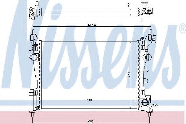 Радиатор охлаждения NISSENS 61918