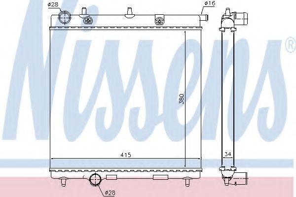 Радиатор охлаждения NISSENS 63505