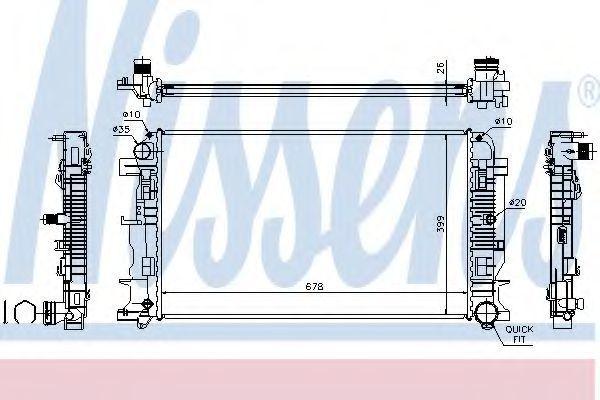 Радиатор охлаждения NISSENS 67156A