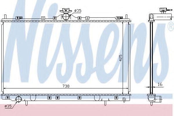 Радиатор охлаждения NISSENS 68182