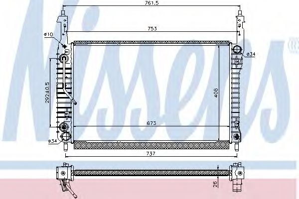 Радиатор охлаждения NISSENS 63119