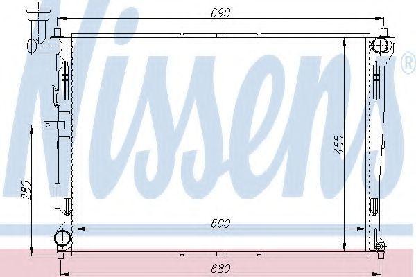 Радиатор охлаждения двигателя NISSENS 66674