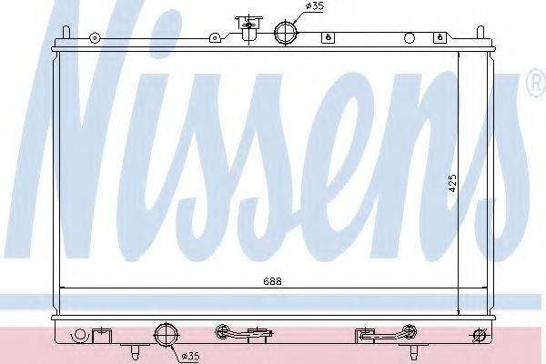 Радиатор охлаждения двигателя NISSENS 62893