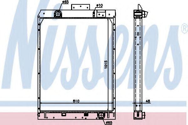 Радиатор, охлаждение двигателя NISSENS 67165