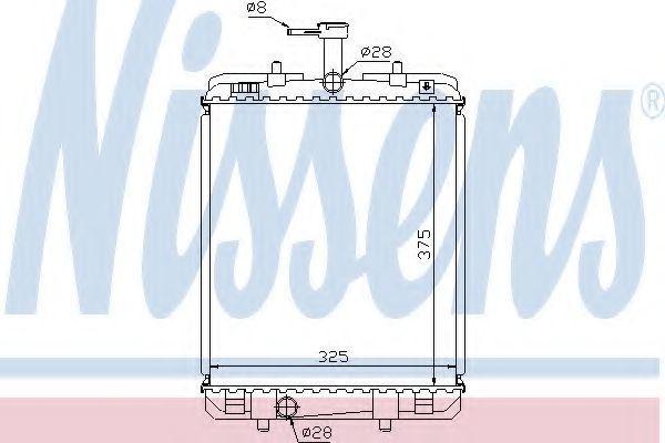 Радиатор охлаждения NISSENS 64685