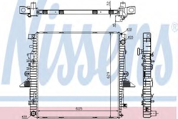 Радиатор охлаждения NISSENS 64320A