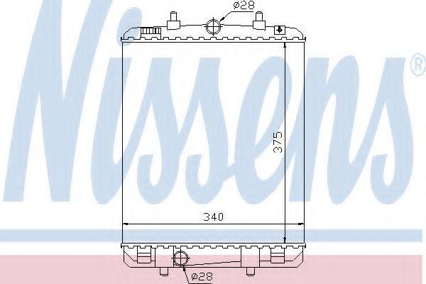 Радиатор охлаждения NISSENS 64687
