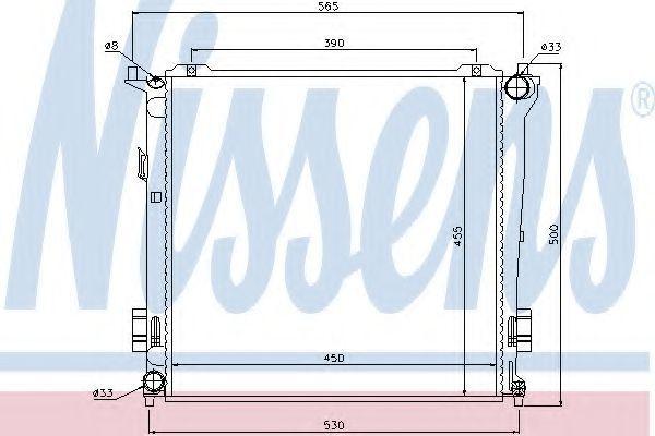 Радиатор охлаждения NISSENS 67077