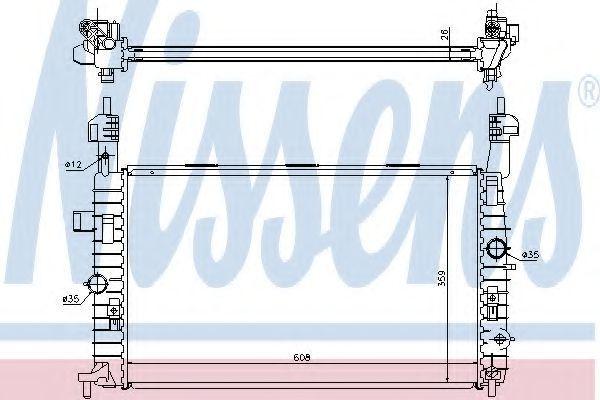 Радиатор охлаждения двигателя NISSENS 63096