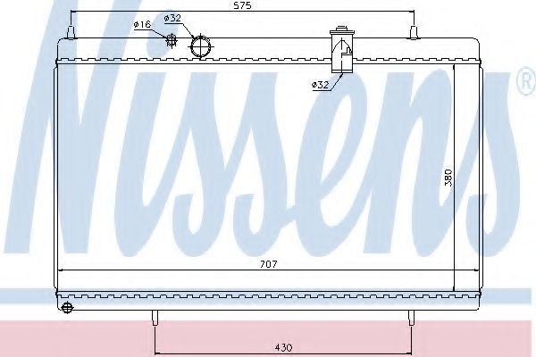 Радиатор охлаждения NISSENS 61271