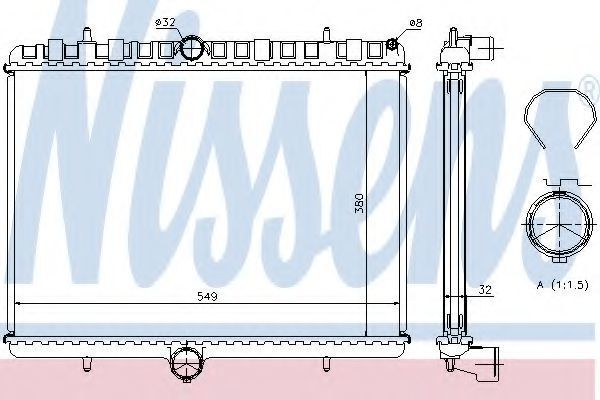 Радиатор охлаждения NISSENS 63621A