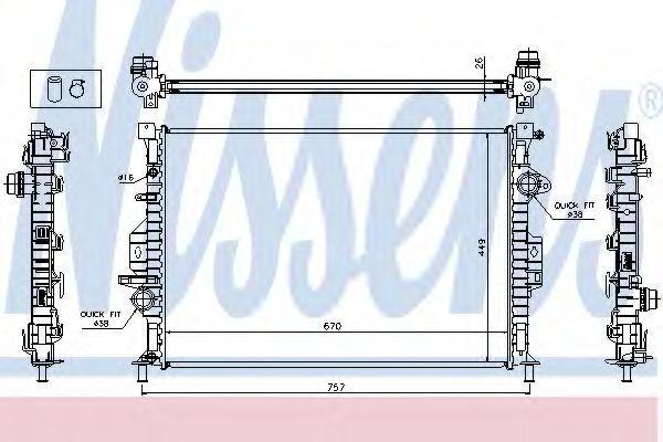 Радиатор охлаждения NISSENS 65615A