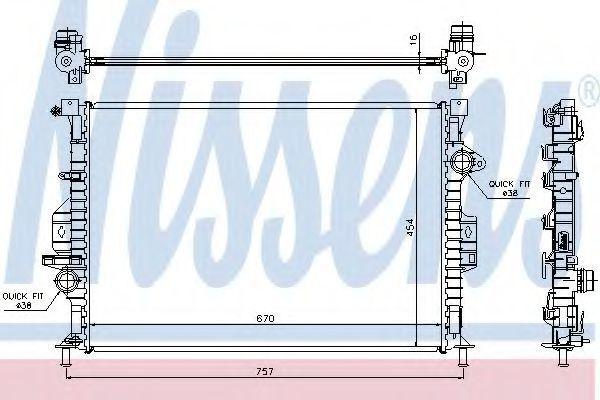 Радиатор охлаждения NISSENS 66857